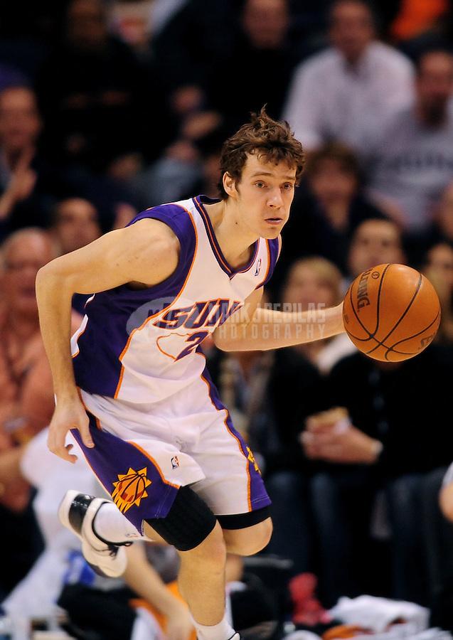 Dec. 15, 2009; Phoenix, AZ, USA; Phoenix Suns guard (2) Goran Dragic against the San Antonio Spurs at the US Airways Center. The Suns defeated the Spurs 116-104. Mandatory Credit: Mark J. Rebilas-