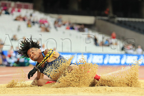 July 19th 2017; London Stadium, East London, England; World Para Athletics Championships; Arnaud Assoumani (FRA) in the mens long jump T47