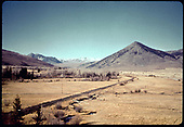 View of Crested Butte Valley with Crested Butte Mountain to left in background.<br /> D&amp;RGW  Crested Butte, CO