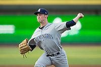 Wilmington Blue Rocks starting pitcher Matthew Strahm (40) in action against the Winston-Salem Dash at BB&T Ballpark on July 30, 2015 in Winston-Salem, North Carolina.  The Dash defeated the Blue Rocks 7-3.  (Brian Westerholt/Four Seam Images)