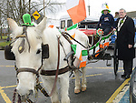 Mark Lawless pictured with Chairperson of Louth County Council Finan McCoy at Ardee St Patrick's day parade. Photo:Colin Bell/pressphotos.ie