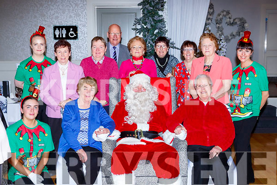 Santa met some of the Muckross neighbours at the Muckross Christmas party in the Killarney Oaks Hotel on Sunday front row l-r: Jane Culloty, Mary Kelly, Philamena Cronin. back row: Kathleen Horan, Annette Sheehan, Patricia Keane, Kurt Neher, Noreen Doherty, Denise Sparling, Helen Foley and Mary Frances O'Connor
