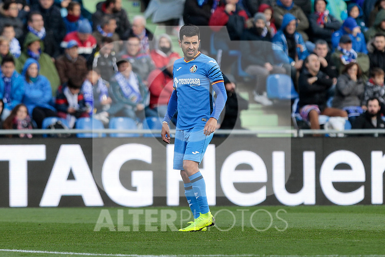 Getafe CF's Angel Rodriguez during La Liga match between Getafe CF and Valencia CF at Coliseum Alfonso Perez in Getafe, Spain. November 10, 2018.