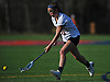 Katie Hudson #21 of Cold Spring Harbor pounces on a loose ball during a non-league varsity girls lacrosse game against Sacred Heart at Cold Spring Harbor High School on Friday, Apr. 1, 2016. Cold Spring Harbor won by a score of 11-9.