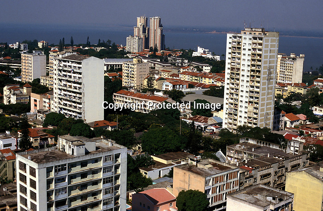 COMOZAM35161.Country. Mozambique. Maputo. Aerial shot of downtown city..©Per-Anders Pettersson/iAfrika Photos