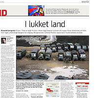Morgenavisen Jyllands-Posten (Denmark) on March 24, 2008. Photo by Lucas Schifres/Pictobank