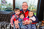Paudie O'mahony with his grandchildren Daithi Coughlan, Clodagh Coughlan and Natalie Rose Owens