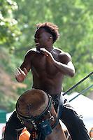 Drummer from Les Tambours de Brazza