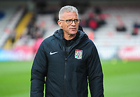 Northampton Town manager Keith Curleduring the pre-match warm-up<br /> <br /> Photographer Andrew Vaughan/CameraSport<br /> <br /> Emirates FA Cup First Round - Lincoln City v Northampton Town - Saturday 10th November 2018 - Sincil Bank - Lincoln<br />  <br /> World Copyright &copy; 2018 CameraSport. All rights reserved. 43 Linden Ave. Countesthorpe. Leicester. England. LE8 5PG - Tel: +44 (0) 116 277 4147 - admin@camerasport.com - www.camerasport.com