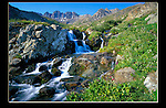 "From John's 3rd book ""Mastering Nature Photography"". Waterfall in American Basin, San Juan Mountains. <br />