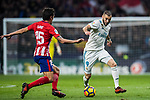 Karim Benzema of Real Madrid in action during the La Liga 2017-18 match between Atletico de Madrid and Real Madrid at Wanda Metropolitano  on November 18 2017 in Madrid, Spain. Photo by Diego Gonzalez / Power Sport Images