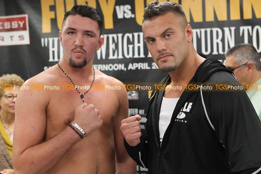 Hughie Fury vs Alex Rozman William Street, New York, USA, promoted by Main Events / Hennessy Sports - 19/04/13 - MANDATORY CREDIT: Chris Royle/TGSPHOTO - Self billing applies where appropriate - 0845 094 6026 - contact@tgsphoto.co.uk - NO UNPAID USE.