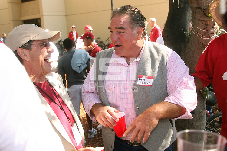 13 October 2007: Pete Lazetich at a tailgate for the 1971-1972 Rose Bowl teams before Stanford's 38-36 loss to TCU at Stanford Stadium in Stanford, CA.