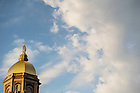 April 29, 2015; Golden Dome at dusk. (Photo by Barbara Johnston/University of Notre Dame)