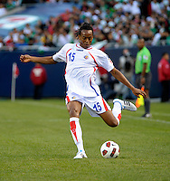 Costa Rica's Junior Diaz prepares to cross the ball.  Mexico defeated Costa Rica 4-1 at the 2011 CONCACAF Gold Cup at Soldier Field in Chicago, IL on June 12, 2011.