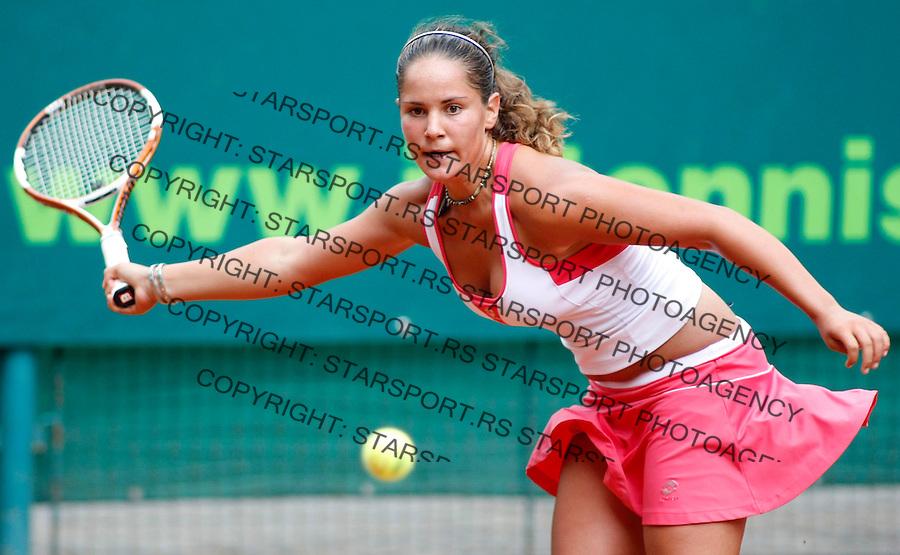 Tennis, world championship, U-14.Tunisia Vs. Serbia.Anais Hella Deville (TUN)-Isidora Radojkovic (SER).Isidora Radojkovic.Prostejov, 08.08.2008..Photo: Srdjan Stevanovic.