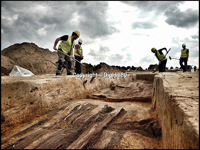 BNPS.co.uk (01202 558833)Pic: DigHill80/BNPS<br /> <br /> ***Online Embargo 13/7/18**<br /> <br /> Historians and archaeologists excavating the site...<br /> <br /> Some 125 First World War soldiers have been discovered entombed in an perfectly preserved German trench system 101 years after they were killed.Most of the men, who are German, British, French and South African, were found where they fell during some of the most ferocious fighting of the war.Other skeletal remains were located buried in a mass grave alongside religious artefacts placed there by their comrades. The 'hell on earth' discovery was made by archaeologists ahead of a housing development on a small field in Flanders, Belgium.
