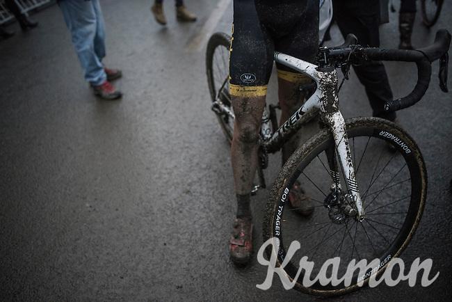Tom Meeusen (BEL/Telenet-Fidea) after finishing the race<br /> <br /> UCI Cyclocross World Cup Namur/Belgium 2016