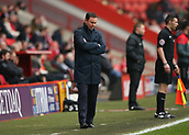 24th March 2018, The Valley, London, England;  English Football League One, Charlton Athletic versus Plymouth Argyle; Plymouth Argyle manager Derek Adams arms folded looking down on the touchline during the 2nd half in disappointment