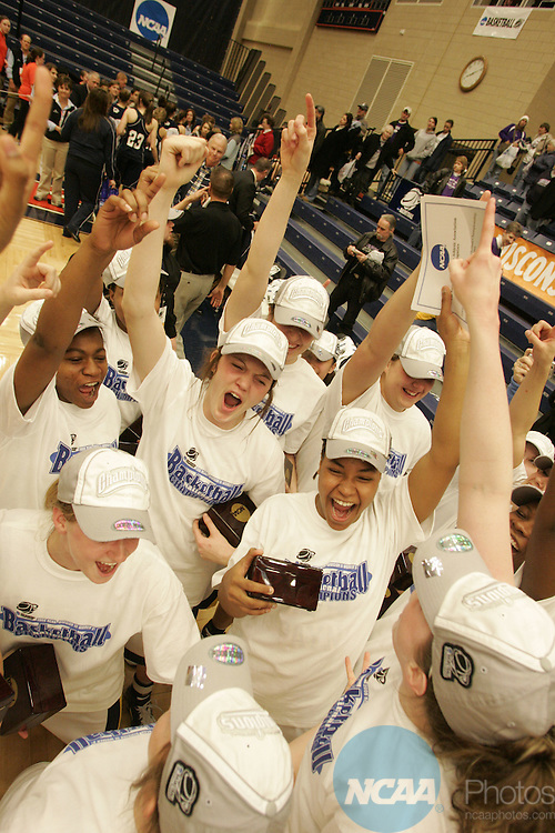 22 MAR 2008: Howard Payne versus Messiah during the Division III Women's Basketball Championship held at DeVos Fieldhouse on the campus of Hope College in Holland, MI. Howard Payne defeated Messiah 68-54 to win the national title. John A. Lacko/NCAA Photos