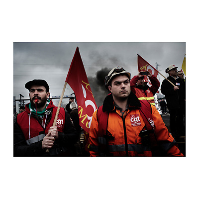 Florange. Campagne présidentielle 2012. François Hollande vient rencontrer les ouvriers en grève.