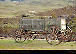 1860s Miner's Wagon, Iron Horse Bar & Grille, Gardiner, Montana