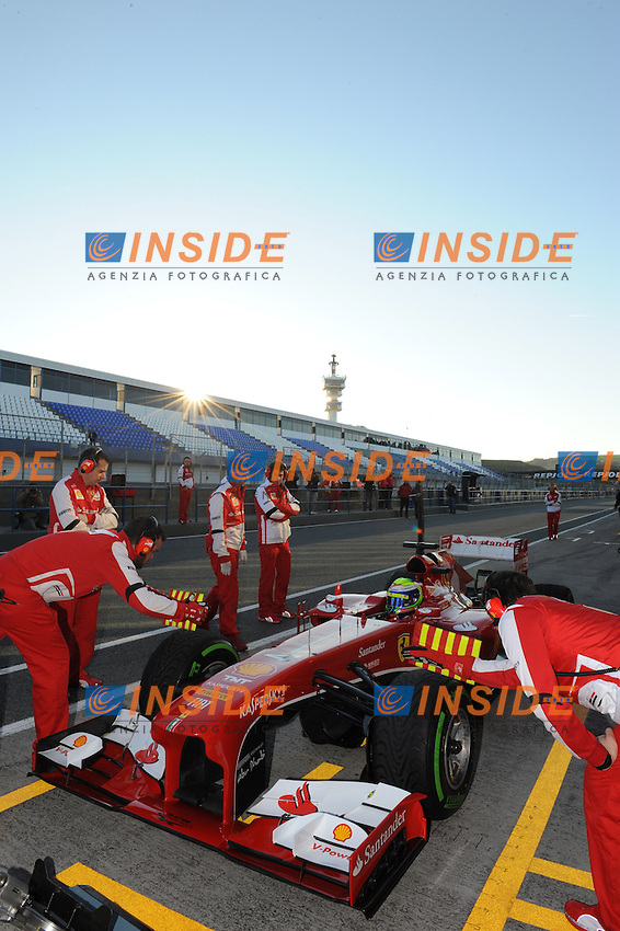 Formule 1: Test  Jerez 05/02/2013.FELIPE MASSA (BRA) - FERRARI F152 - ACTION  .Jerez 05/02/2013.Formula 1 Test.Foto Insidefoto .ITALY ONLY