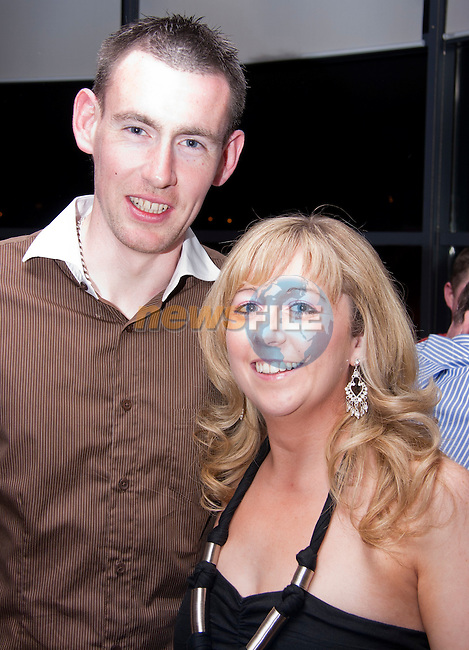 Celebrating their engagement in Bru are Eammon Toner and Carmel Kiely..Picture: Shane Maguire / www.newsfile.ie.