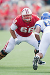Wisconsin Badgers offensive lineman Gabe Carimi (68) during an NCAA college football game against the San Jose State Spartans on September 11, 2010 at Camp Randall Stadium in Madison, Wisconsin. The Badgers beat San Jose State 27-14. (Photo by David Stluka)