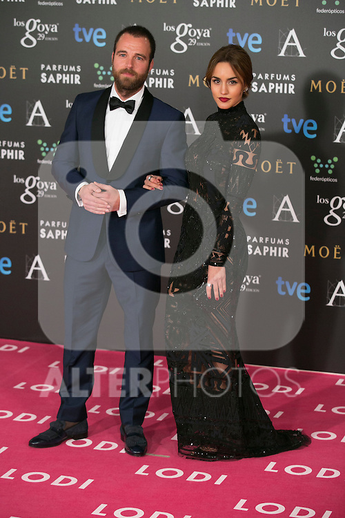 Megan Montaner attend the 2015 Goya Awards at Auditorium Hotel, Madrid,  Spain. February 07, 2015.(ALTERPHOTOS/)Carlos Dafonte)