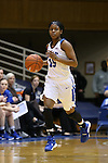 17 December 2015: Duke's Kyra Lambert. The Duke University Blue Devils hosted the Liberty University Flames at Cameron Indoor Stadium in Durham, North Carolina in a 2015-16 NCAA Division I Women's Basketball game. Duke won the game 79-41.