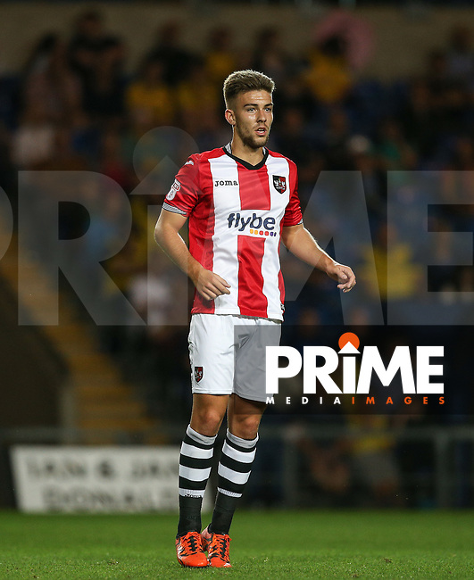 Toby Down of Exeter City during the The Checkatrade Trophy match between Oxford United and Exeter City at the Kassam Stadium, Oxford, England on 30 August 2016. Photo by Andy Rowland / PRiME Media Images.
