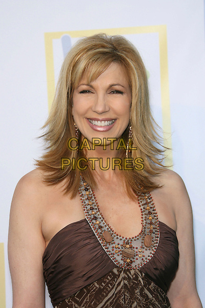 LEEZA GIBBONS.Opening of Assistance League Leeza's Place Care Center in Hollywood, Los Angeles, California, USA,.21 April 2006..half length brown dress.Ref: ADM/ZL.www.capitalpictures.com.sales@capitalpictures.com.©Zach Lipp/AdMedia/Capital Pictures.