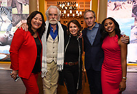 PASADENA, CA - JANUARY 17: (L-R) SVP, Development & Producer, NG WILD Jane Han Vissering, National Geographic Explores-at-Large Dereck Joubert and Beverly Joubert, National Geographic Explorer & Photographer Brian Skerry, and National Geographic Explorer Dr. Rae Wynn-Grant attends the National Geographic 2020 TCA Winter Press Tour Party at the Langham Huntington on January 17, 2020 in Pasadena, California. (Photo by Frank Micelotta/National Geographic/PictureGroup)