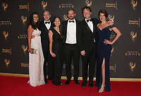 LOS ANGELES, CA - SEPTEMBER 09: Mickey Meyer, Tara Meyer, Nicholas Veneroso, Allie Estrada Daniel Kellison and Dyan Kelliso at the 2017 Creative Arts Emmy Awards at Microsoft Theater on September 9, 2017 in Los Angeles, California. <br /> CAP/MPIFS<br /> &copy;MPIFS/Capital Pictures