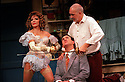 Frank Langella,Paul Bentley,Joan Collins in Over The Moon opens at The Old Vic Theatre on 15/10/01  pic Geraint Lewis