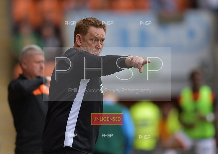 08/09/2018 Sky Bet League 1 Blackpool v Bradford City<br /> <br /> Bradford City Head Coach, David Hopkin