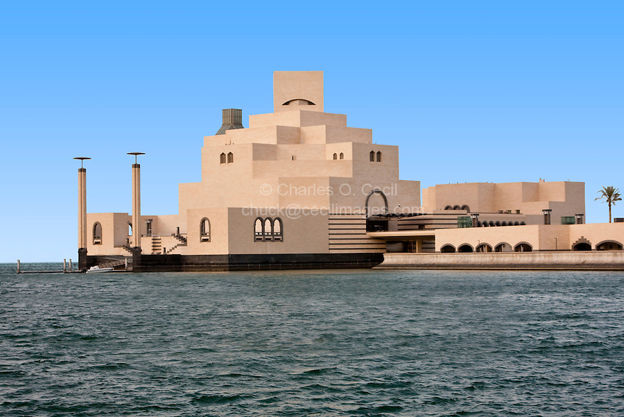 Doha, Qatar.  Islamic Museum of Art, designed by architect I.M. Pei.
