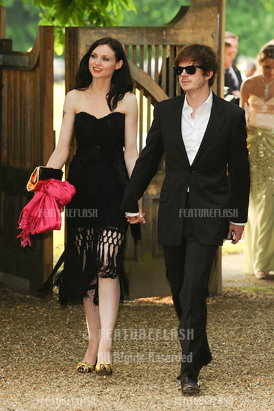 Sophie Ellis Bextor and musician, husband, Richard Jones arriving for the Raisa Gorbachev's Gala 2010 at Std House, Hampton Court, London. 05/06/2010   Picture by: Steve Vas / Featureflash