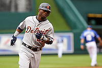 Detroit left fielder Craig Monroe rounds the bases with a two run home run in the second inning against the Royals at Kauffman Stadium in Kansas City, Missouri on May 6, 2007.  The Tigers won 13-4.