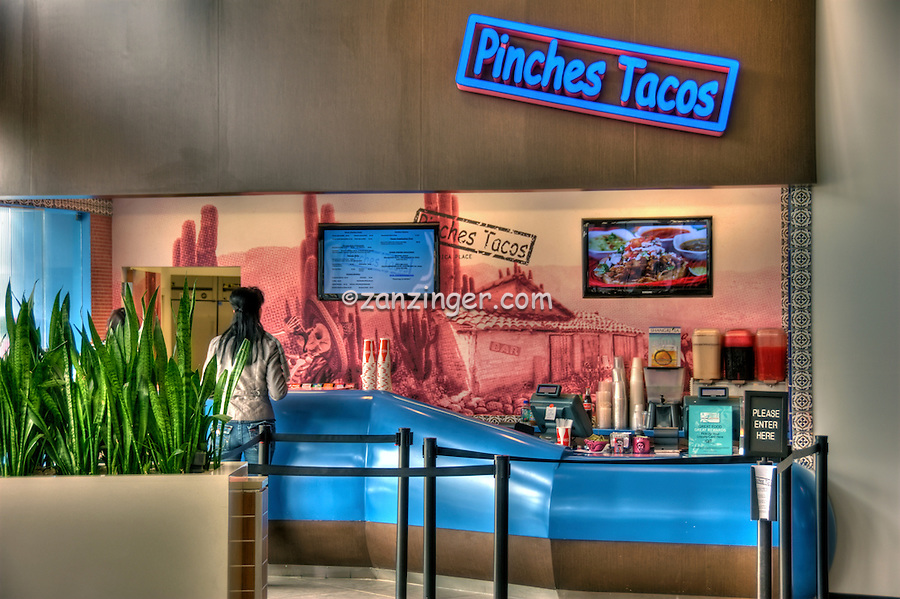 Pinches Tacos, Food Court, The Market, Santa Monica Place, Santa Monica, CA; Dining, Fast Food, restaurant,