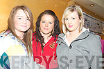 BUSINESS IDEAS: Students Erika Roche, Libbie Enright and Sarah Holden from Presentation Secondary School in Tralee were thinking up new business ideas while attending the Entrepreneur Boot Camp in the Brandon Hotel on Friday.   Copyright Kerry's Eye 2008