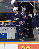 Kyle Palmieri (USA - 23) - Team Canada defeated Team USA 5-4 (SO) on Thursday, December 31, 2009, at the Credit Union Centre in Saskatoon, Saskatchewan, during the 2010 World Juniors tournament.