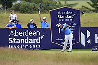 Thongchai Jaidee (THA) on the 11th during Round 2 of the Aberdeen Standard Investments Scottish Open 2019 at The Renaissance Club, North Berwick, Scotland on Friday 12th July 2019.<br /> Picture:  Thos Caffrey / Golffile<br /> <br /> All photos usage must carry mandatory copyright credit (© Golffile | Thos Caffrey)
