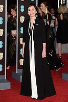 Kristin Scott Thomas arriving for the BAFTA Film Awards 2018 at the Royal Albert Hall, London, UK. <br /> 18 February  2018<br /> Picture: Steve Vas/Featureflash/SilverHub 0208 004 5359 sales@silverhubmedia.com