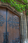Gothic revival doors,  University of Chicago, Chicago, Illinois, IL, USA
