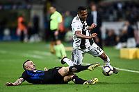 Radja Nainggolan of Internazionale , Alex Sandro of Juventus <br /> Milano 27-04-2019 Stadio Giuseppe Meazza <br /> Football Serie A 2018/2019 FC Internazionale - Juventus FC <br /> photo Image Sport / Insidefoto