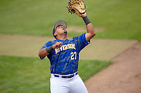 UC-Riverside Highlanders Tony Gudino (27) in action against the Cal Poly San Luis Obispo Mustangs at Riverside Sports Complex on May 26, 2018 in Riverside, California. The Cal Poly SLO Mustangs defeated the UC Riverside Highlanders 6-5. (Donn Parris/Four Seam Images)