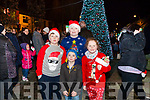 Pictured at the Abbeyfeale Switch On The Christmas Lights on Friday December 1st were Michael, Patrick & Sarah Cahill and Patrick Deenihan in front.  (All from Knocknagoshel)