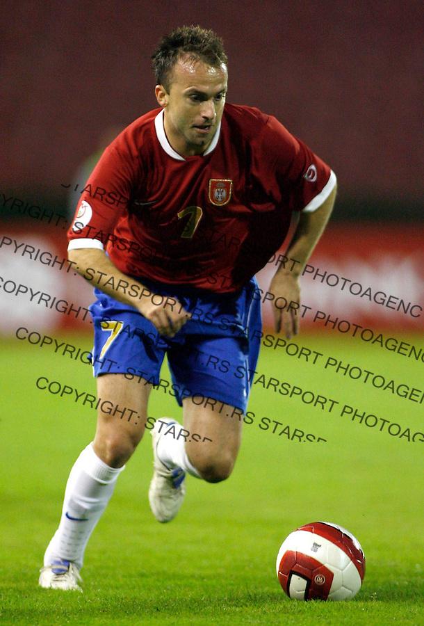 Fudbal, Kvalifikacije za EURO 2008<br /> Srbija Vs. Azerbejdzan (Azerbaijan)<br /> Ognjen Koroman<br /> Beograd, 02.09.2006.<br /> foto: Srdjan Stevanovic